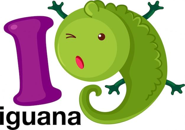 Animal alphabet letter - i
