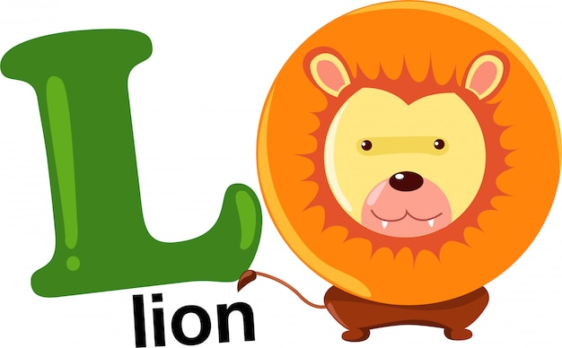 Animal alphabet letter - l