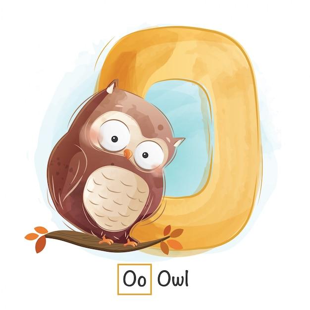 Animal alphabet - letter o