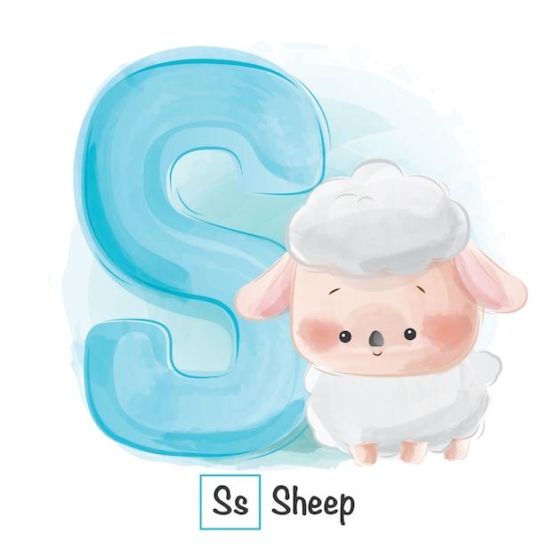 Animal alphabet - letter s