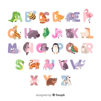 포유류와 조류와 동물 알파벳