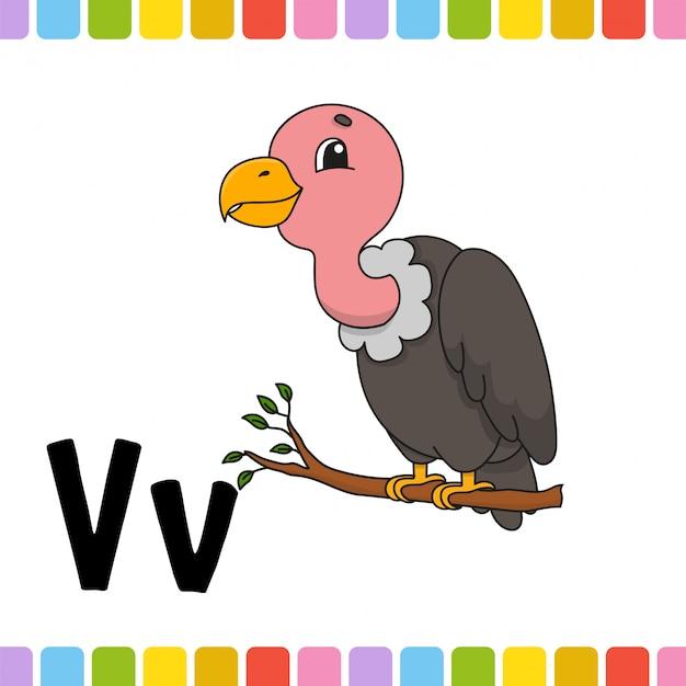 動物のアルファベット。動物園abc。漫画かわいい動物