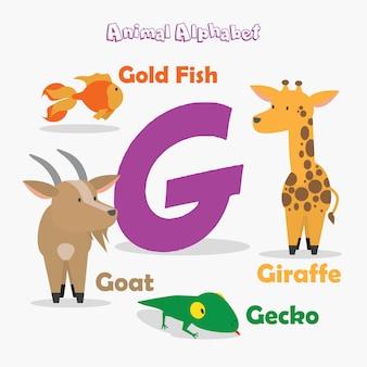 動物アルファベット