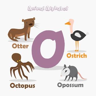 동물 알파벳 프리미엄 벡터