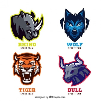 Animal badges for sport teams