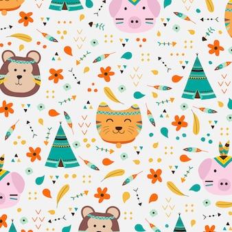 Animal boho style background