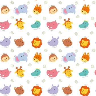 Animal cartoon pattern background