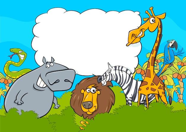 動物のキャラクターの背景