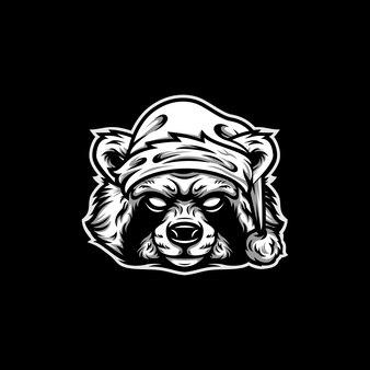 Animal christmas mascot design