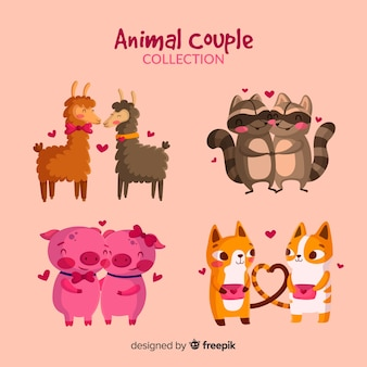 Animal couple collection