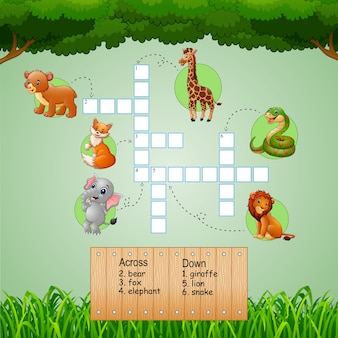Animal crossword puzzles for kids games