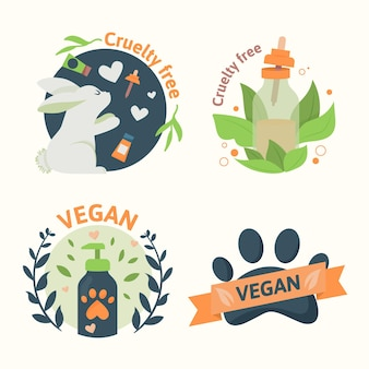 Distintivi vegani e senza crudeltà sugli animali