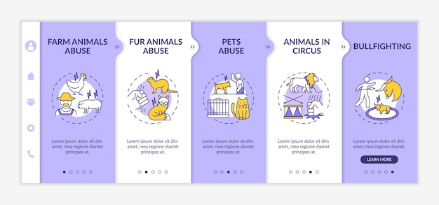 동물 학대 온 보딩 템플릿 격리 된 삽화