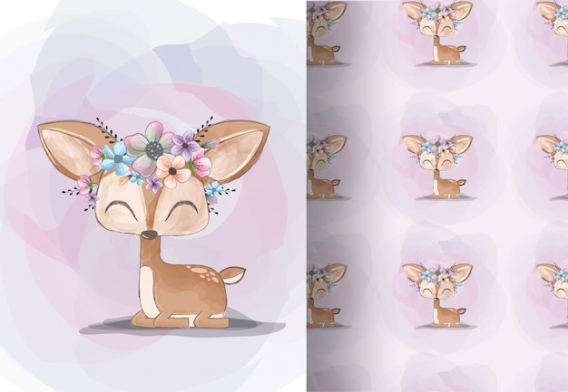 Animal deer cartoon very cute