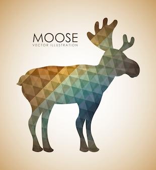 Animal design over beige background vector illustration