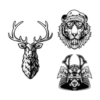 Дизайн животных черно-белое
