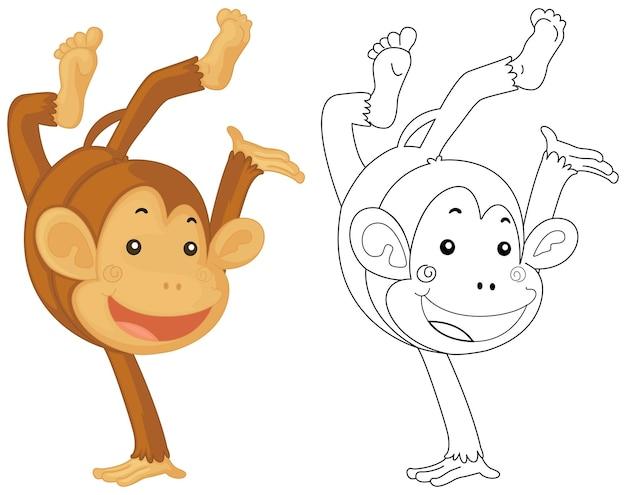 작은 원숭이를 위한 동물 낙서