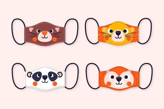 Animal face mask collection theme