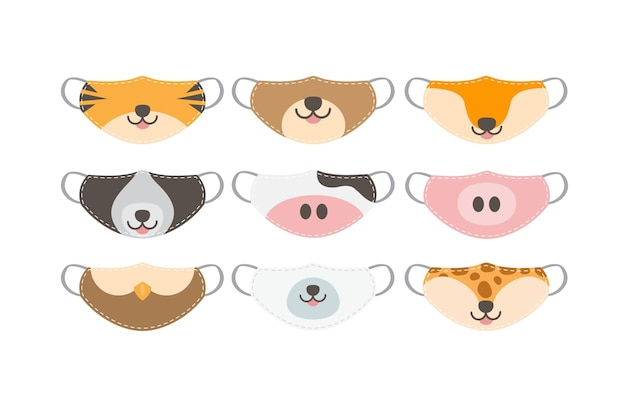 Animal face mask collection