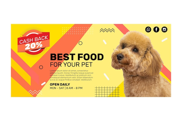 Animal food banner template
