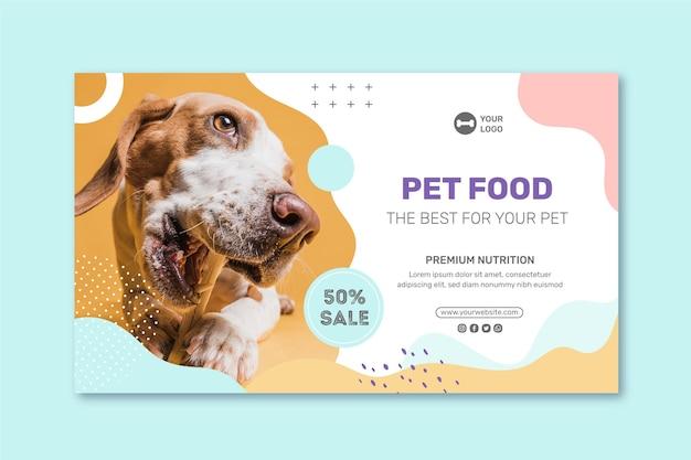 Modello di banner di cibo animale