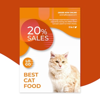 Animal food flyer template style