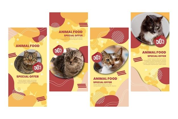 Storie di instagram di cibo per animali