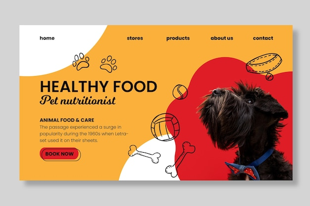 Animal food landing page template