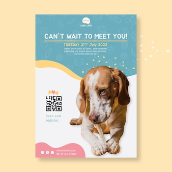 Animal food poster design template