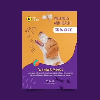 Animal food poster template