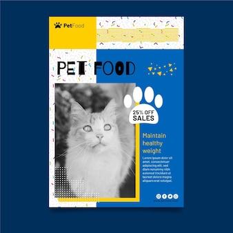 Modello di poster di cibo animale
