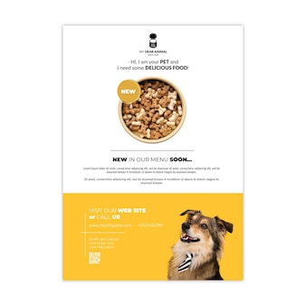 Шаблон плаката корм для животных