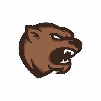 Animal head - bear - векторный логотип / значок иллюстрации талисман