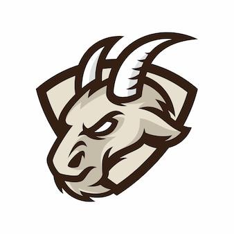 Animal head - коза - векторный логотип / значок иллюстрации талисман