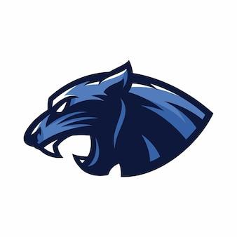 Animal head - panther - vector logo/icon illustration mascot