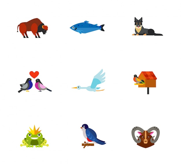 Raccolta di icone di animali