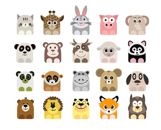 Animal icons collection