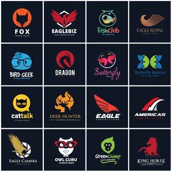 Набор логотипов животных