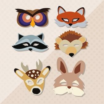 Animal masks collection