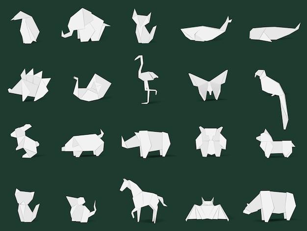動物の折り紙のベクトル