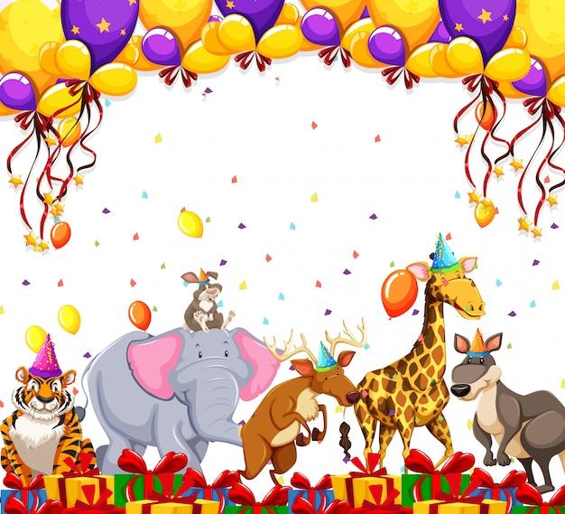 Animal party celebration concept
