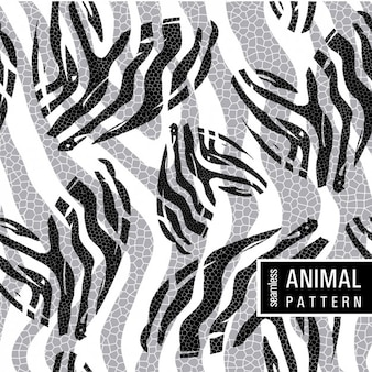 Animal pattern in monochromatic style