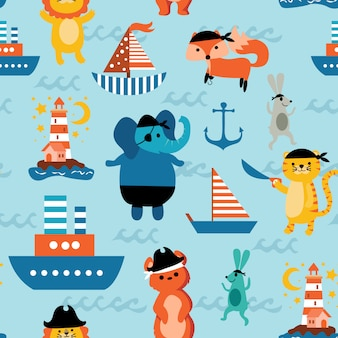 Animal pirate pattern