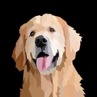 Animal print half body of dog pop art portrait