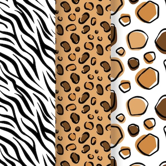 Animal print seamless pattern template