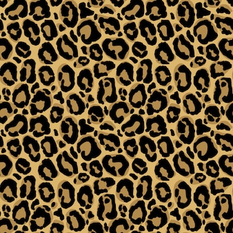 Animal print. seamless pattern with leopard fur texture. repeating wrapping paper, wallpaper or scrapbooking.