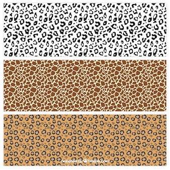 Animal prints patterns collection
