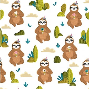 Animal seamless pattern background template