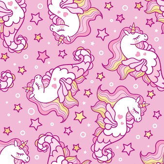 Animal seamless pattern background vector template