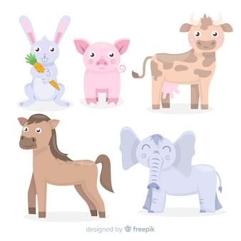 Animal set in children's style